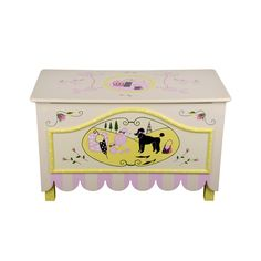 """a TOY BOX from the """"Miss Lily"""" collection of hand painted furniture by Miss Tati and Friends"""