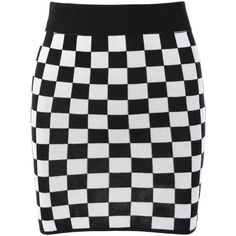 Checked Mini Knit Plaid Pencil Skirt ($14) ❤ liked on Polyvore featuring skirts, rosegal, knit skirt, checkered mini skirt, checkerboard skirt, checked skirt and checkered skirt
