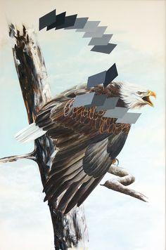 Grito 120 cm x 81 cm Oleo-Lienzo 2008 2500€ #arte #art #cuban #CesarIvan Bald Eagle, Bird, Animals, Canvases, Birds, Animaux, Animal, Animales, Animais
