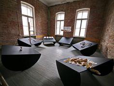 Exhibition view, the Rituaal room, KAФEDRA: Exhibition by the Department of Jewellery and Blacksmithing, 2016, Narva Art Residency, Narva, Estonia, photo: Dmitri Leshihin