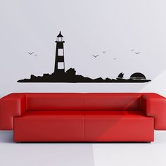 large lighthouse wall stickers decal mediterranean funky deer amp stag