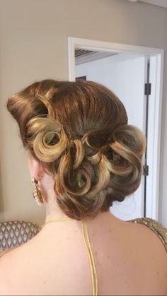 Pin curl VIntage upstyle 💕