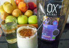 Smoothie de Abacate, iogurte natural, sementes de chia e canela
