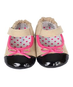 Another great find on #zulily! Robeez Taupe & Pink Harper Bootie by Robeez #zulilyfinds