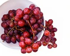 Red Grapes in a White Bowl by DesignbyRita on Etsy, $15.00