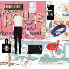 Party look xx by michaelalove3 on Polyvore featuring polyvore fashion style Topshop Akira Black Label Henri Bendel Swarovski Michael Kors Urban Decay Lime Crime Yves Saint Laurent Nails Inc.