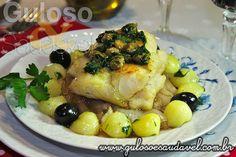 Conheça mais de 40 receitas deliciosas, saudáveis e práticas de bacalhau!! Especial Bacalhau – Deliciosas Receitas, Simples e Rápidas!  Artigo aqui => http://www.gulosoesaudavel.com.br/2015/04/02/especial-bacalhau-deliciosas-receitas-simples-rapidas/