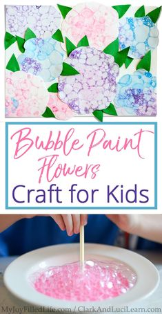Bubble Paint Flowers Craft for Kids #springcraftsforkids
