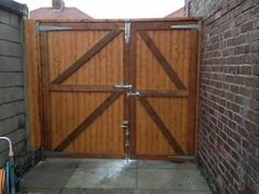Soild wooden front and back/side garden gates driveway gates & garage doors / gate joiner joinery Old Swan Picture 1
