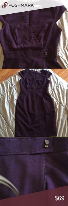 Calvin Klein Beautiful Calvin Klein winter dress size 4. Purple dress Calvin Klein Dresses Midi