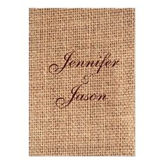 country wedding invitations with pictures | Rustic Country Printed Burlap Wedding Invitations at Zazzle.ca