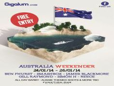 Australia Day --- at Gigalum, 7-8 cavendish parade, london, SW4 9DW, United Kingdom ---- On 24-26 January 2014 at 1:30 pm to 11:00 pm ---- The best Australia Day party in London! FACT --- Facebook: http://atnd.it/5513-0 ---- Category: Nightlife --- Price: Free ---- Artists / Speakers: OZ DJ's.