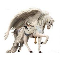 Nene Thomas - ANGEL WHITE - FANTASY COUTURE Carousel Horse Winged Pegasus