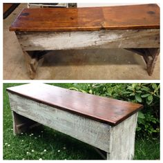 Old handmade bench spruced up , great find!