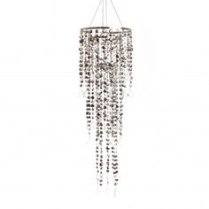 10 Diameter Multi Diamond Cut Chandelier Silver (BEST SELLER!)