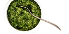 This coriander pesto is the perfect accompaniment to summer salads.
