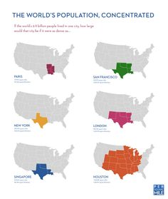 The Worlds Population, Concentrated