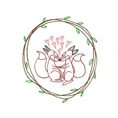 Fox Hand Embroidery Pattern Valentine's by teenytinyhappythings