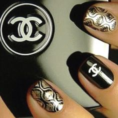 CoCo Chanel Nails :) ... obsessed !