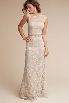 Ivory/natural April Gown | BHLDN. $750