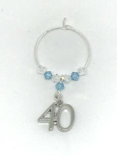 Silver plated Charm set with Aquamarine and Clear Swarovski Crystals make this gorgeous wine glass charm Wrapped in an organza bag makes a lovely gift for a March birthday Other colours available Swarovski Gifts, Swarovski Crystals, Wine Glass Charms, Personalised Gifts, Organza Bags, Birthstones, Gifts For Her, Handmade Jewelry, March