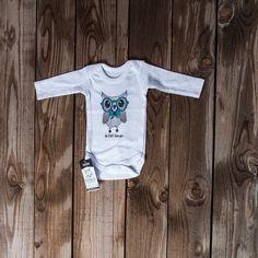 Long sleeve vest Owl green glasses Newborn / 18-24 months