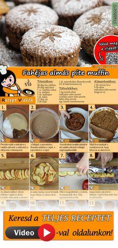 Az igazi almás pitét semmi sem múlhatja felül, de a Fahéjas almás pite muffin az ízeit teljes mértékben visszaadja. Próbáld ki Te is! A Fahéjas almás pite muffin recept videóját a kártyán levő QR kód segítségével bármikor megtalálod! :) #FahéjasAlmásPiteMuffin #AlmásPite #FinomSüti #Gyorssüti #ReceptVideó #AlmásSüti #AlmásDesszert #Karácsony #KarácsonyiReceptek #KarácsonyiÉtelek #KarácsonyiDesszert #ReceptVideó #KarácsonyiDIYÉtelek #KarácsonyiKreatívÉtelek #MuffinRecept Muffin Recipes, Cookie Recipes, Dessert Recipes, Pie Dessert, Egg Butter Recipe, Tasty, Yummy Food, Sweet Cakes, Muffins