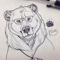 "1,605 curtidas, 21 comentários - 🙎🏼єṃṃѧ | ɞʟȗєṡ 🐻 (@ghostlygrizzly) no Instagram: ""I love my fursona~ 💙🐻 #sketch #nature #bear #grizzly #brownbear #ballpointpen #drawing #cute #sona…"""