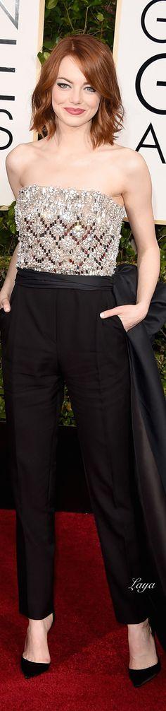 Emma Stone, in Lanvin. BELLA COMO EL AMANECER DE LA PRIMAERA