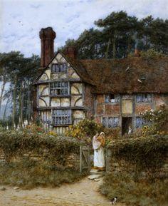 Unstead Farm, Godalming - Helen Allingham Prints - Easyart.com