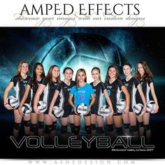 Amped Effects - Platinum Burst - Volleyball Photoshop Collage Template, Photoshop Pics, Photoshop Design, Photoshop Photography, Photoshop Actions, Photoshop Tutorial, Photography Poses, Volleyball Team Pictures, Volleyball Poses