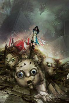 more artjam stuff! my alice is in need of an upgrade so here. hope you like it Alice: Chaos in Wonderland Alice Liddell, Alice Madness Returns, Dark Fantasy, Fantasy Art, Geeks, Real Manga, Dark Alice In Wonderland, Creepy, Chibi