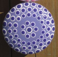 Dotted Lavender Delight Drawer Knob by sweetmixcreations on Etsy, $7.00