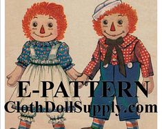 Vintage Doll Patterns and Doll Making Supplies by ClothDollSupplyLLC Doll Sewing Patterns, Bag Patterns To Sew, Sewing Toys, Little Backpacks, Primitive Doll, Baby Sheep, Camping Set, Clothes Basket, Ann Doll