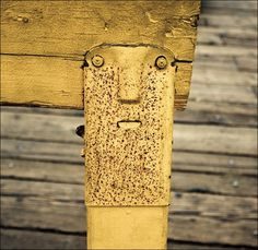 Bench leg is watching you!