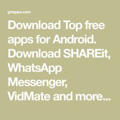 Download Top free apps for Android. Download SHAREit, WhatsApp Messenger, VidMate and more. Hi security & Antivirus, Soccerstand, free iptv cccam, World Cup Download Shareit, Top Free Apps, Great Apps, Whatsapp Messenger, Android Apps