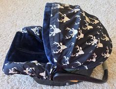 Boy Car Seat Covers Stag Car Seat Cover Navy Stag carseat