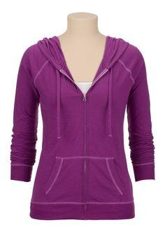 Lightweight zip front hoodie - maurices.com