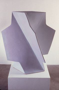 "John Mason [Spain/USA] {b 1927} ~ ""Folded White Cross"", 2002. Ceramic (130 × 88 × 88 cm). 