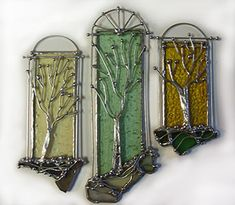 Artifacts Glass Studio: Glass Studio Trees by Beth Cunningham Stained Glass Suncatchers, Stained Glass Designs, Stained Glass Panels, Stained Glass Projects, Fused Glass Art, Stained Glass Patterns, Stained Glass Art, Mosaic Glass, Making Stained Glass