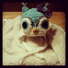 Crochet Baby Owl Earflap Beanie With Bow by IzzyLane911 on Etsy, $20.00