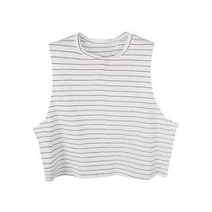 Tank top - Kate ($42) ❤ liked on Polyvore featuring tops, shirts, crop tops, tank tops, white crop tank top, white singlet, white cotton tank, white crop shirt and white tops