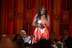2014 Tony Awards Ceremony - Tony Award winner Audra McDonald accepts the award for Best Performance by an Actress in a Leading Role in a Play for 'Lady Day at Emerson's Bar & Grill' onstage during the 2014 Tony Awards.  Credit: Theo Wargo/Getty Images
