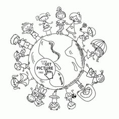 Printable Earth Day Coloring Pages Page For