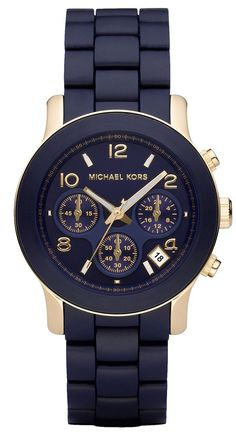 Navy Blue.....My mouth is watering! #reloj #relojes #relojmk #mkmujer #bolivia