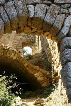 Ruins in Corsica, France Beautiful Islands, Beautiful Places, Corsica Travel, Places To Travel, Places To Visit, Surf, France Travel, Abandoned Places, Vacation Spots