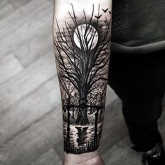 Black And Grey Tattoo Ideas For Girls (11)