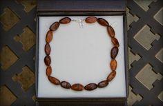 COCOA BEAD TM NECKLACE Cocoa Bead Necklace Cococabeads Cocoa Bean Grando Cioccolato WHOLE REAL COCOA BEANS with Sterling Silver