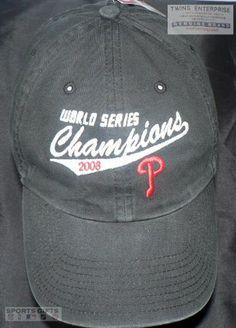 MLB PHILADELPHIA PHILLIES 2008 BASEBALL WORLD SERIES CHAMPS HAT CAP NEW MENS By Twins Enterprise