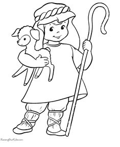 Shepherd Coloring Page | Shepherd boy coloring pages